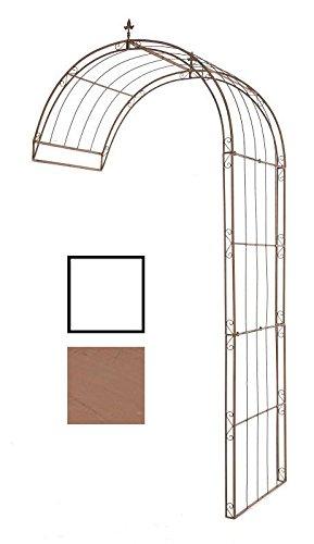 CLP halbrunder Rosenbogen PIETRO zur Wandbefestigung, aus stabilem Eisen (aus bis zu 4 Größen & 2 Farben wählen) antik braun, 152 x 80 x 270 cm