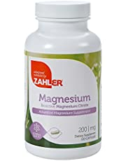 Zahler Magnesium Citrate, All Natural Supplement with Maximum Absorption, Helps Maintain Normal Muscle and Nerve Function, Certified Kosher, 200mg