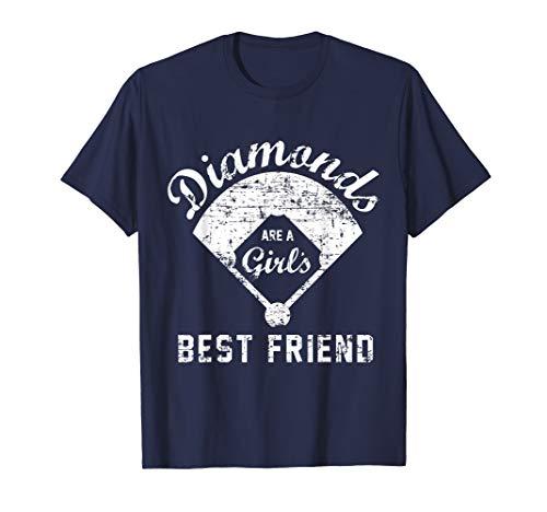 - Diamonds are a Girl's Best Friend T Shirt, Softball Mom Gift