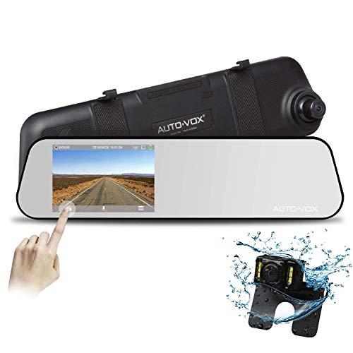 AUTO-VOX M6 4.5'' IPS Touch Screen FHD 1080P Mirror Diving Recorder Car DVR...