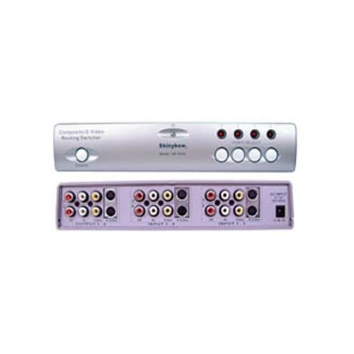 Shinybow - SB-5430 - 4x2 Composite/S-Video/Audio Routing Switcher - Shinybow S-video