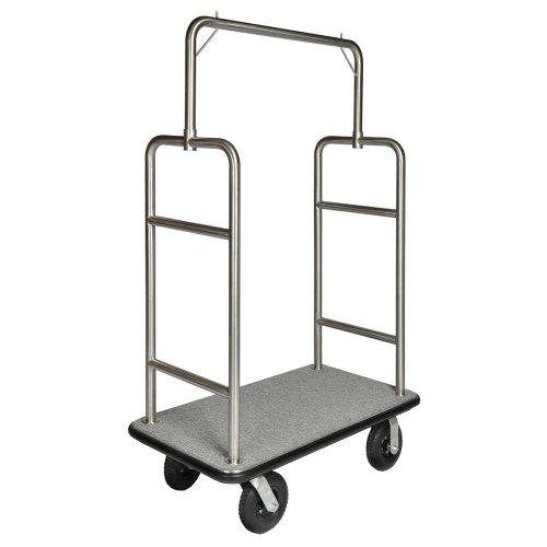 csl-2599bk-010-gry-stainless-steel-finish-heavy-duty-bellmans-cart-with-rectangular-gray-carpet-base
