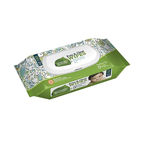 Seventh Generation Thick n' Strong Free & Clear Baby Wipes with Flip Top Disp...
