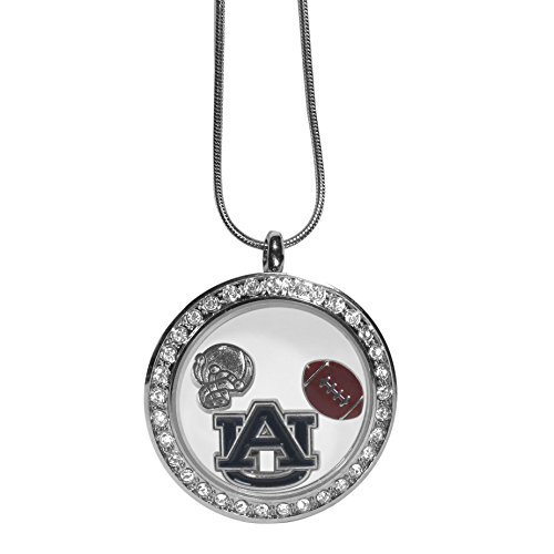 "Siskiyou NCAA Auburn Tigers Charm Locket Necklace, 18"", Metal"