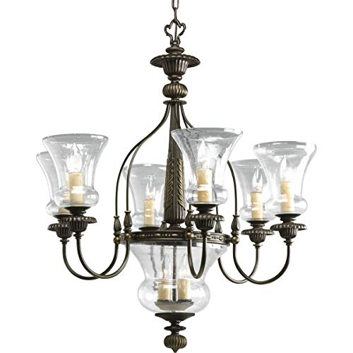 (Progress Lighting P4410-77 6-Light Fiorentino Chandelier, Forged Bronze)