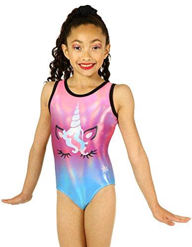 Snowflake Designs Leotards - Snowflake Designs Unicorn Sublimated Gymnastics or Dance Leotard (Child Medium)