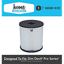 "Dirt Devil 7"" Home Revolution Brand Replacement Central Vacuum Filter Fits Pro series; Compare to Part # 8106-01"