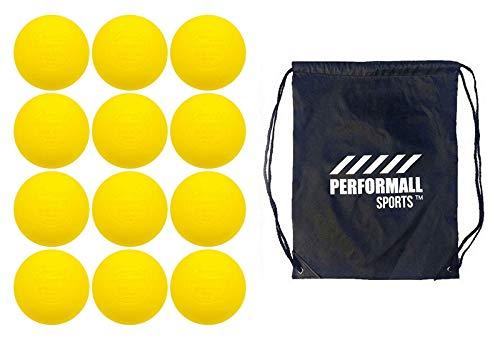 Champion Sports Lacrosse Balls 12-Balls Yellow