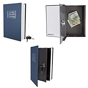 Stalwart A200017 Lock Box with Key, Diversion Book Safe (Portable Safe Box, Great for Traveling, Store Money, Jewelry, and Passport) by, Dictionary - 6 x 9 in