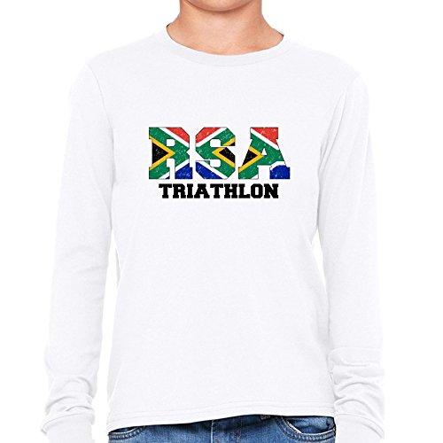 South Africa Triathlon - Olympic Games - Rio - Flag Girl's Long Sleeve - Africa Clothing Triathlon South