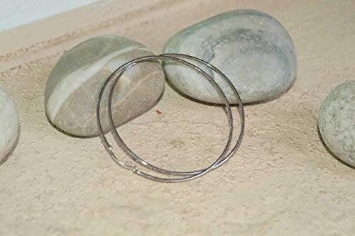 Bohemian Style 4.10cts Pave Diamonds Oxidized Sterling Silver Earrings 70mm Large Bali hoops Bali Style Diamond Earring