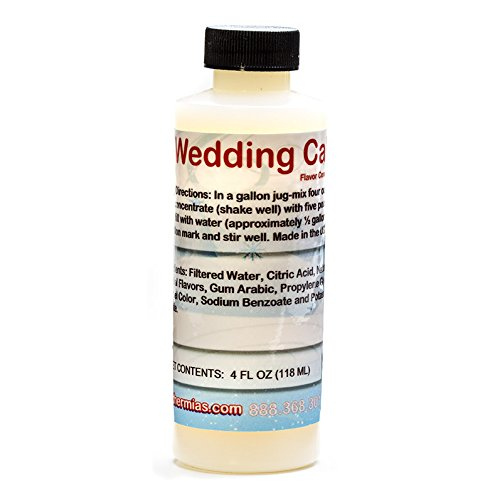 Wedding Cake Shaved Ice and Snow Cone Flavor Concentrate 4 Fl Ounce ()