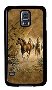 Samsung Galaxy S5 Case,Sacred Passage Horse Custom PC Hard Case Cover for Samsung S5/Samsung Galaxy S5 Black