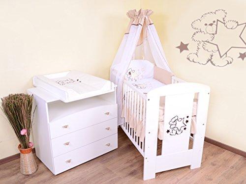 Babyzimmer sparset incl. Babybett , Wickelkommode , Ausstattung - Komplettset (beige)