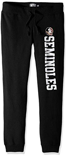 (NCAA Florida State Seminoles Women's Ots Fleece Pants, X-Large, Jet Black)