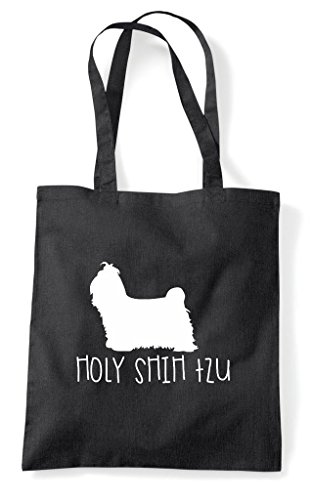 Funny Tzu Bag Shih Tote Holy Shopper Parody Black xSHnw8