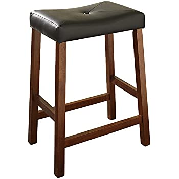 Amazoncom Crosley Furniture Cf500224 Ch Upholstered Saddle Seat
