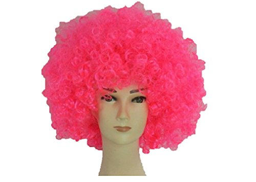 Unisex Clown Wig Circus Funny Fancy Party Dress Accessory Afro Stag Do Fun Joker (Hot -