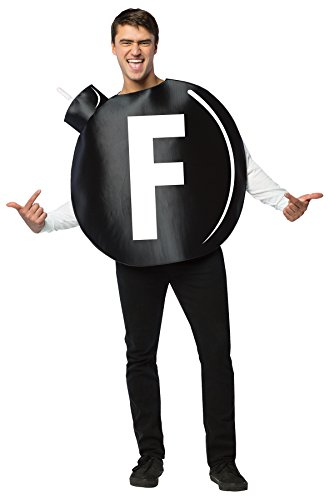 UHC Men's F Bomb Tunic Funny Comical Theme Party Adult Halloween Costume, OS