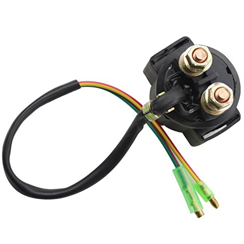 Starter Motor Relay Connector - GOOFIT Relay Starter Solenoid without Cap for Motorcycle ATV Scooter Snowmobile