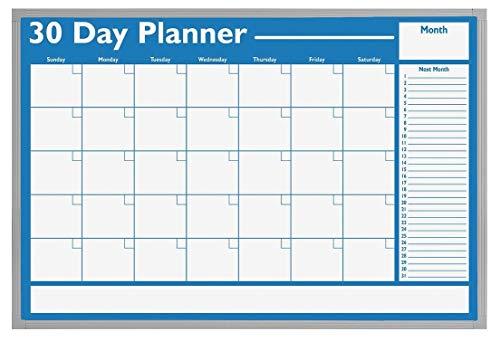 Magna Board Visual Planning - Magna Visual Dry Erase Planning Board, 30 Day, 36