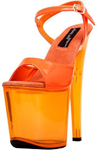 sandales plus élevé le femme pour orange plateforme fluo Fantasy 101 Le talon fwTqzz
