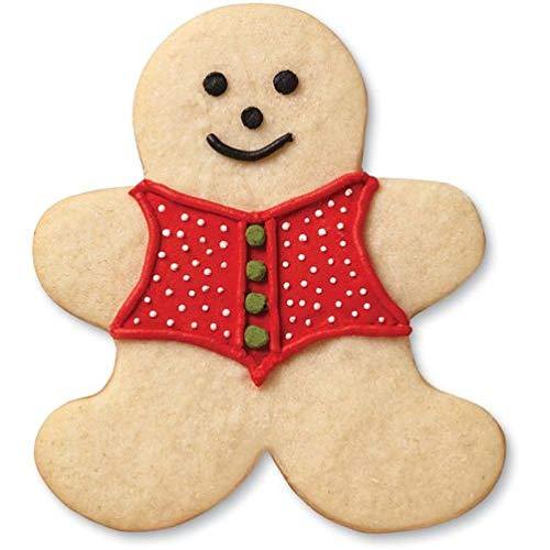 Argento, Wilton TAGLIAPASTA Grippy OMINO Gingerbread TAGLIAPASTA Grippy OMINO Gingerbread Acciaio