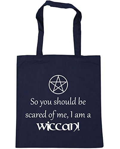 You x38cm Be Am So litres French 42cm A Me 10 Of Navy Scared Should Bag Shopping HippoWarehouse Wiccan Beach Tote I Gym ft5qTt