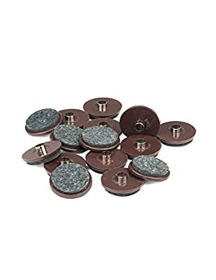 "1-1/2"" Diameter Felt Gliders - Brown, 16 Pieces"