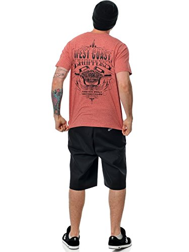 West Coast Choppers Dickies T-Shirt Custom Built By Workwear Melange Rot (X-Small , Rot)