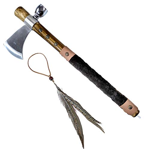 - WJ 19 Inches Tomahawk with Leather Wrapped Handle
