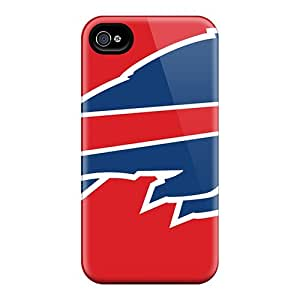 Shock Absorbent Hard Phone Covers For Iphone 6 With Unique Design Realistic Buffalo Bills Series Marycase88