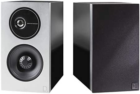 Definitive Technology D11 Demand Series Bookshelf Speakers for Hi-End Stereo Systems New and Unique Tweeter Design Acoustically Transparent Magnetic Pair, Premium Piano Black