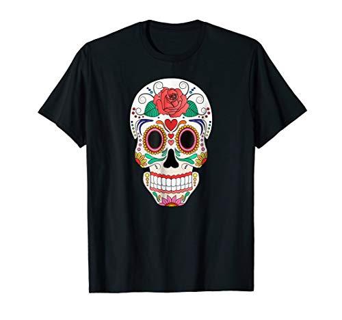 Halloween Sugar Skull Skeleton Costume Shirt ()