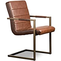 Artemano CH9224134 Isha Vintage Armchair, Brown Leather