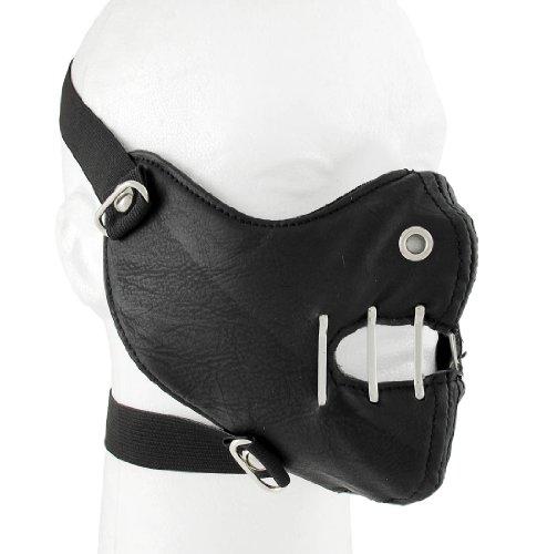 Leather Powersports Protective Face Masks Gothic Black Vinyl Half Face Mask Facemask Industrial Black Adult Vinyl Half Mask