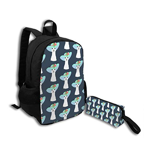 (Oswz Llama in Hat Seamless Pattern Travel Backpack Insulated Soft Lunch Cooler for Men Women, Best for Picnic, Hiking, Travel, Beach, Sports,)