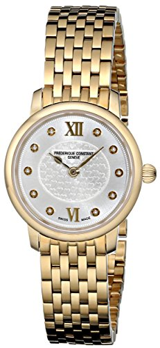 Frederique Constant Women's FC-200WHDS5B Slim Line Yellow Goldtone Stainless Steel Watch