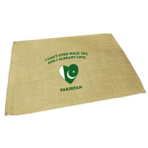 T/s Pakistan Green - Can'T Even Walk Already Love Pakistan Jute Burlap Placemat Table Mat Natural