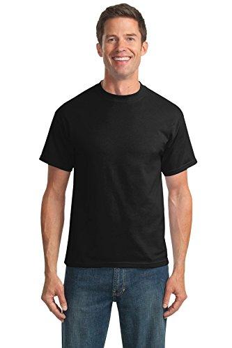 Port & Company Men's Tall 50/50 Cotton/Poly T Shirts 2XLT Jet Black