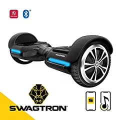 Max out your swag and step on the all new SWAGTRON T580 hoverboard.At only 20 lbs, the self balancing board is both lightweight and sturdy. It easily supports any rider between 44 to 220 lbs, making it ideal for children, teens, and adults. B...
