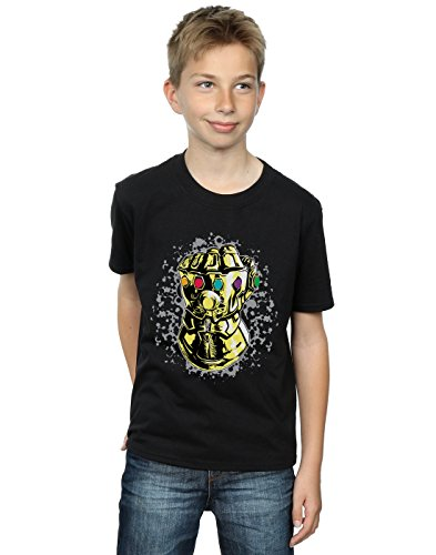 Thanos War Infinity Avengers Boy Camiseta Fist negra T7cHnzOOW