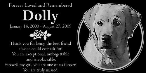 (Personalized Yellow Labrador Retriever Pet Memorial 12