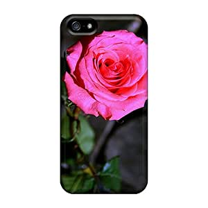 ChristineBR Case Cover For Iphone 5/5s - Retailer Packaging Pink Rose Protective Case