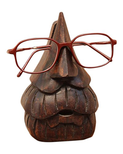 store-indya-wooden-eyeglass-spectacle-holder-handmade-nose-shaped-beard-stand-for-office-desk-home-d