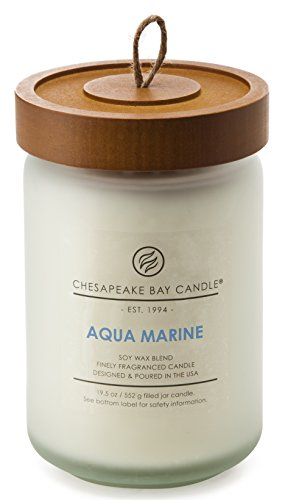 Chesapeake Bay Candle Scented Candle, Aqua Marine (Waterlily Seagrass), Large