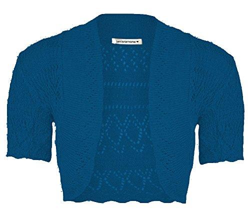 Ragazze Corta Janisramone A Crochet Marina Manica Bolero Maglia Crop Shrug Cima Cardigan Nuove Xww5C1BTq