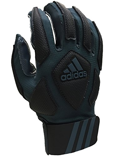 adidas Scorch Destroyer Full Finger Lineman's Gloves, Gray/Black, Small