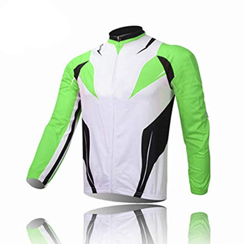 (2019 Bike Jersey Bib Set Long Sleeve Spring Autumn Season Green Color Clothes Cycling MTB Wears)