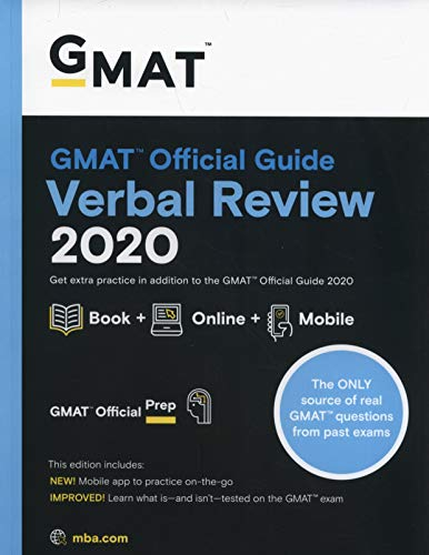 GMAT Official Guide 2020 Verbal Review: Book + Online Question Bank (The Official Guide For Gmat Verbal Review)